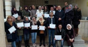 In 25th of December , NAFS has ended up a training workshop for psychology students at Birzet University