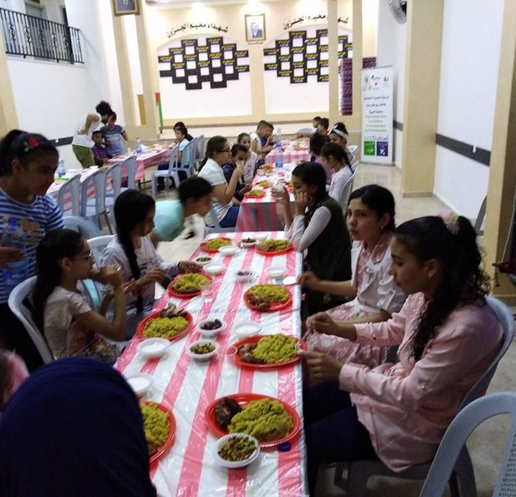 Nafs for Empowerment implemented in partnership with Japanese NGO Frontline two Ramadan Iftar events for the children in Jalazone and Qalandia Camps.
